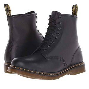 Black Nappa Dr. Martens Boots